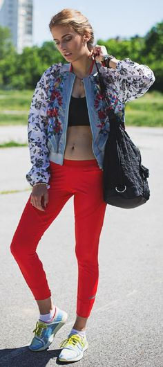 Floral Bomber Jacket by The Pile Of Style