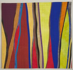 """This piece falls in the category of """"old work made new again"""" because I actually first finished it years ago but never really liked it because one of the hand-dyed fabrics I used had a stain on it. At the time I willingly incorporated it into the quilt hoping the stain would not bother me over the…"""