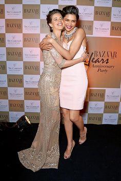 Deepika Padukone and Kalki Koechlin celebrate Harper's Bazaar Indian Celebrities, Bollywood Celebrities, Bollywood Actress, Kalki Koechlin, Glamour World, Indian Princess, Celebrity Style Inspiration, Saree Dress, Bollywood Stars