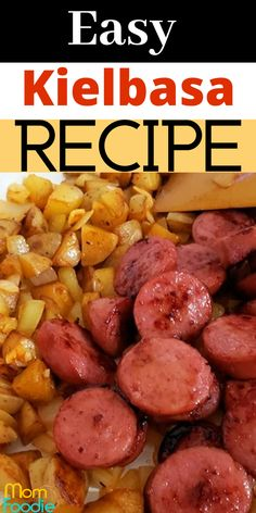 This easy kielbasa recipe pan fries the kielbasa sausage with diced potatoes and chopped onion.  Includes tips on adding vegetables too. A reader favorite! #kielbasa #easyrecipe