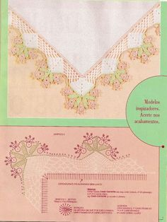 Crochet Knitting Handicraft: Croche ( barrados e cantos) nº01