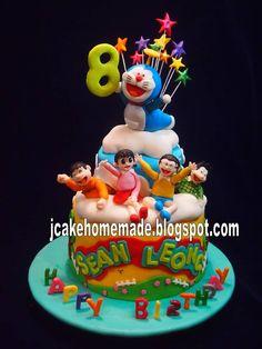 Jcakehomemade: Doraemon birthday cake