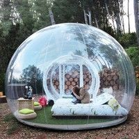 Wish | 3-4 Persons 3 In 1 220V Professional Creative Transparent Crystal Tents Inflatable Buildings House  Bubble Tent