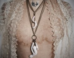 Decayed Doll Parts Necklace by Louise Black