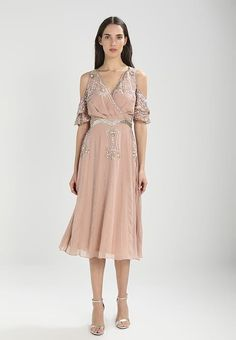 Frock and Frill Cocktail dress / Party dress - nude for with free delivery at Zalando Frock And Frill, No Frills, Frocks, Party Dress, Cold Shoulder Dress, Cocktails, Nude, Free Delivery, Dresses