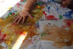 Malowanie zamrożonymi farbkami