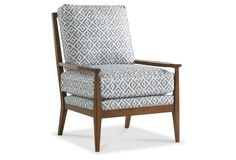 A refined yet relaxed accent chair!