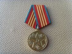 Soviet Vintage Medal Devoted to 10 years Of Irreproachable