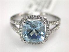 Aquamarine rings are gorgeous.