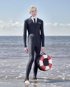 """13k Likes, 160 Comments - Thom Browne (@thombrowneny) on Instagram: """"... lifesaver ... #thombrowne #tbss17 spring 2017 trompe l'oeil technical wetsuit, shop now on…"""""""