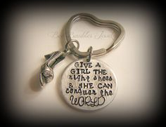 Hand Stamped Keychain Marilyn Monroe Quote  by BeeBaublesJewelry, $22.00