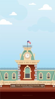 45th Anniversary Wallpaper: Walt Disney World Railroad Train Station - Mobile