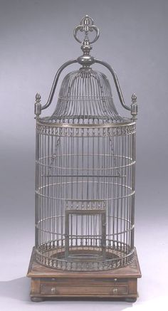Regency style bronze dome-top birdcage.Birdcages More Pins Like This At FOSTERGINGER @ Pinterest