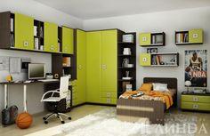 Квадро - коллекция мебели для подростковой детской комнаты для мальчика / Teen boy's room masculine and grown-up