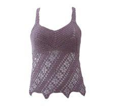 Handmade purple corchet top by NeedleGraceBoutique on Etsy