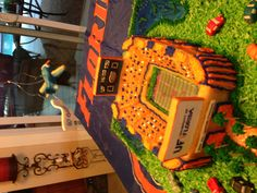 My and Mel's Gator stadium cake