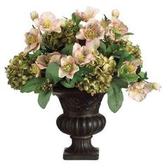 "Check out this item at One Kings Lane! 14"" Hydrangea Arrangement, Faux"