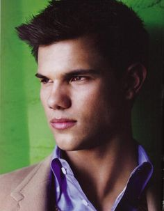 Taylor Lautner. Love him. Love Jacob Black. And I love the name Jacob Black too.