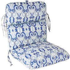 Jordan Manufacturing Deluxe Floral Chair Cushion, Multiple Patterns