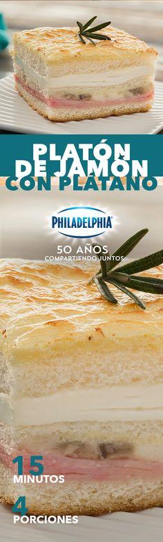 Sabemos que la combinación de dulce o salado con Philadelphia te encanta, prepara este Platón de jamón con plátano. #recetas #receta #quesophiladelphia #philadelphia #quesocrema #queso #comida #cocinar #cocinamexicana #recetasfáciles #recetasPhiladelphia #recetasdecocina #comer #jamon #platano #comida #familia #pan #hornear #pan #recetajamon #recetascomida