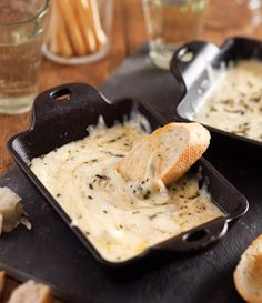 Serve our Rosemary-Baked Cheese with toasted baguette slices, breadsticks, or chunks of bread.