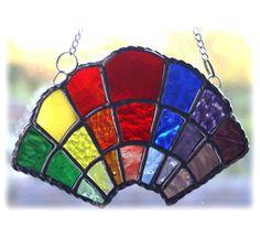 Rainbow Arc Stained Glass Suncatcher Handmade £15.00