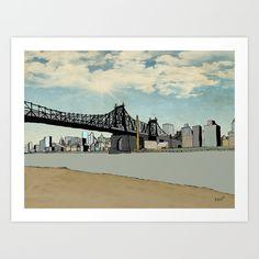 Manhattan, New York City Available on Sale at @society6  Illustration by @David_Delgado_R en @society6