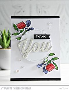 Hi thereI hope you all enjoyed the card creations from the MFT Design Team, show casing the new and latest Card Kit called Sketchy Flowers..Today, is day 2 of the shares...My card today is a really simple design, show casing the flowers and die cut You..I chose to stamp…