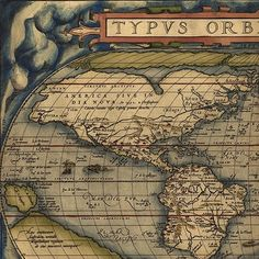 Theatrum Orbis Terrarum World Map (1570) from the first true modern atlas.  This vintage print is available at http://workart.co.za/vintage-maps-prints/