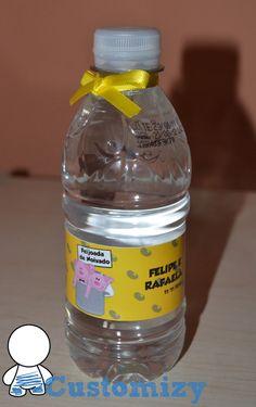 Rótulo para garrafa de água ou refrigerante.  Rótulo impresso em papel adesivo fotográfico, tamanho 20x4cm.  Fazemos vários temas. Consulte.