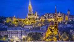 Stock Photo - Castle Hill with Matthias Church seen from across the Danube River, Budapest, Hungary Beautiful Castles, Most Beautiful Cities, Beautiful Buildings, Amazing Places, Budapest City, Budapest Hungary, Visit Budapest, Capital Of Hungary, Destinations