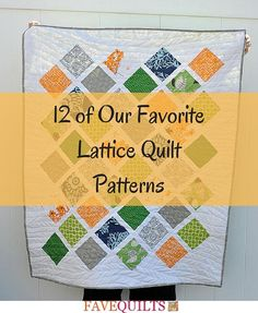 12 of Our Favorite Lattice Quilt Patterns | Love classic lattice quilts? Then don't miss our updated collection of free lattice quilt patterns! Baby Quilt Tutorials, Beginner Quilt Patterns, Quilt Patterns Free, Quilting Tutorials, Quilting Projects, Quilting Designs, Easy Patterns, Quilt Design, Patchwork Patterns