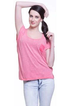 Pink U Neck Cotton T Shirt Trendy Tops For Women, Basic Tank Top, Fresh, Tank Tops, Stylish, Cotton, Pink, T Shirt, Fashion