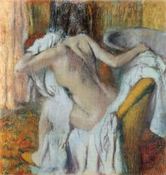 """""""After the Bath, Woman Drying Herself"""" (1890-5), Edgar Degas, The National Gallery, WC2."""