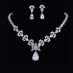 Belle Bridal l stunning crystals wedding jewelry set | Belle Bridal Jewellery l headpieces, jewelry, accessories shipping worldwide Wedding Jewelry Sets, Bridal Jewellery, Wedding Earrings, Flora Bridal, Belle Bridal, Bridal Accessories, Jewelry Accessories, Bridesmaid Jewelry, Bridesmaids