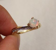 SUMMER SALE Vintage Opal Ring 14K Gold by DesignzByRuth on Etsy, $256.95