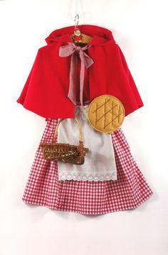Le déguisement complet du Petit Chaperon Rouge :  - une cape en polaire rouge avec sa grande capuche, bien chaude pour la période du carnaval.  Elle se noue avec une belle lav - 16694520