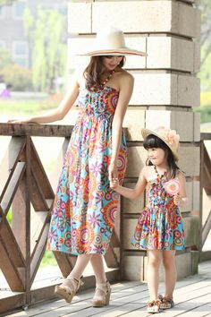 Mom daughter, family outfits, mommy and Mom And Baby Outfits, Mother Daughter Matching Outfits, Mother Daughter Fashion, Family Outfits, Mom Daughter, Kids Outfits, Fashion Kids, Girl Fashion, Girls Dresses