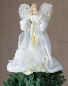 Fiber Optic Royal Angel Tree Topper by Balsam Hill