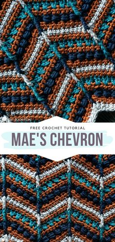 This selection of Wonderful Chevron Crochet Blankets is surely going to surprise you with its originality as well as with the beauty of the projects and Crochet Gratis, Crochet Geek, Free Crochet, Knit Crochet, Chrochet, Crochet Shawl, Afghan Crochet Patterns, Crochet Stitches, Knitting Patterns
