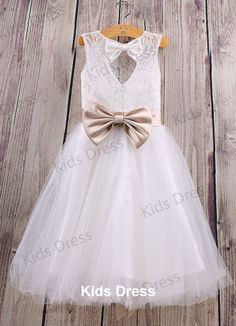 Aline Floorlength Lace Tulle Flower Girl Dress With by kidsdress, $38.00