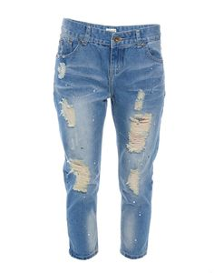 SLICK | Ripped Boyfriend Jeans - Women - Style36  #RihannaStyle36 Slacks, Trousers, Pants, Ripped Boyfriend Jeans, Jeans Women, Playing Dress Up, Rihanna, Women Wear, Womens Fashion