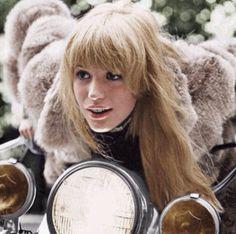 Marianne Faithfull #girlonamotorcycle #1960s