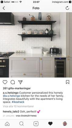 Ikea Hack, Apartment Living, Living Spaces, Kitchen Cabinets, Home Decor, Decoration Home, Room Decor, Kitchen Cupboards, Interior Design
