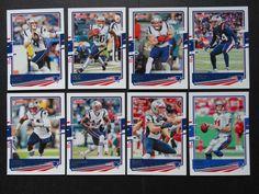 2020 Donruss New England Patriots Veterans Base Team Set of 8 Football Cards #NewEnglandPatriots