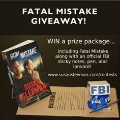 A new Fatal Mistake giveaway with fun FBI merchandise.  https://www.susansleeman.com/contests/?utm_content=buffer66e0f&utm_medium=social&utm_source=pinterest.com&utm_campaign=buffer FaithWords