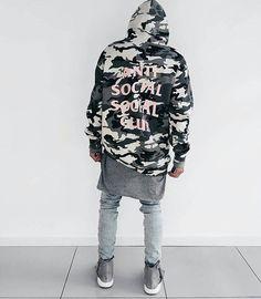 Anti Social Social Club Camouflage Hoodie Kanye West