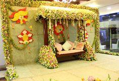 Used Wedding Decor, Wedding Stage Decorations, Backdrop Decorations, Baby Shower Decorations, Flower Decorations, Diwali Decorations, Wedding Ideas, Marriage Decoration, Wedding Set