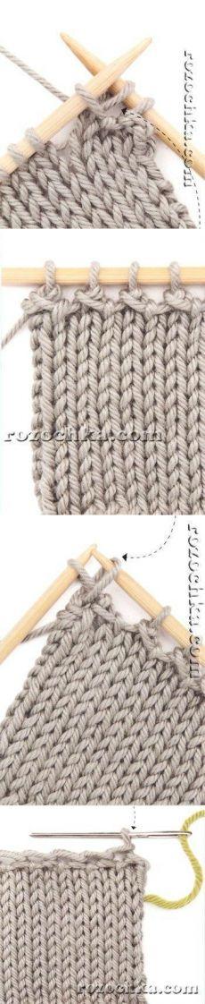 Knitting: zamknięcie pętli w dwóch rzędach.