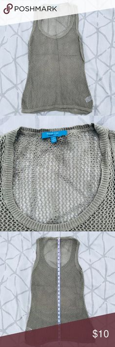 Derek Lam knit tank Super cute knit tank by Derek Lam. Versatile tan color. Some minor wear. 42TANK-42OXS-WL04 Derek Lam Tops Tank Tops